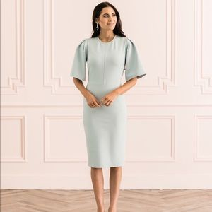 Rachel Parcell Flutter Sleeve Ponte Dress in Blue